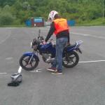 autoškola autocvicisko mala motorka A1